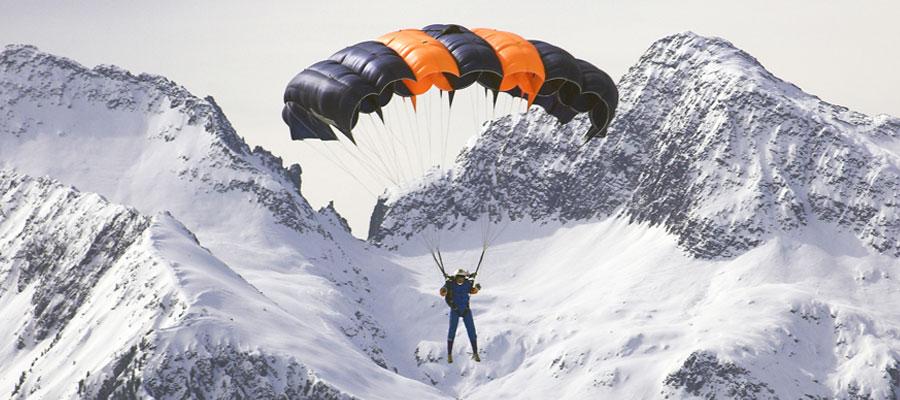 Vivez les sensations d'un parachutiste en chute libre
